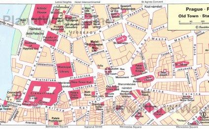 Prague Old Town map - Tourist