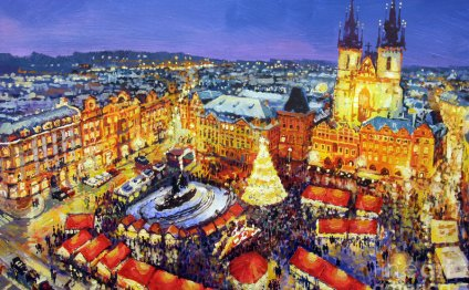 Acrilic Painting - Prague Old