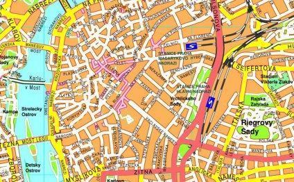 Prague Vector Area Map 995,00