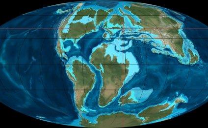 Europe 100 million years ago