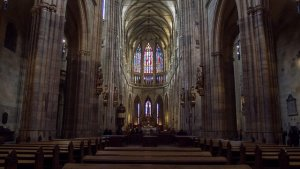 Inside St Vitus Cathedral in Prague, Czech Republic