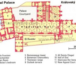 Prague - Royal Palace (Kralovsky Palac) - Floor plan map