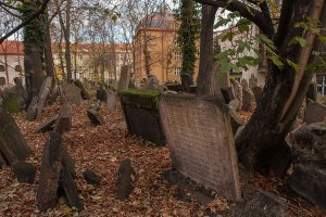 The Old Jewish Cemetery in Prague's Jewish quarter. Photo courtesy Garrett Z.